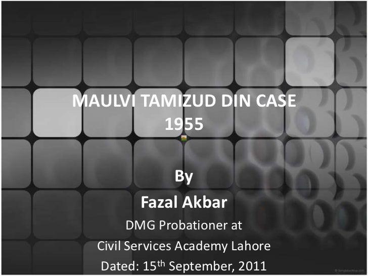 Tamizzudin's Case