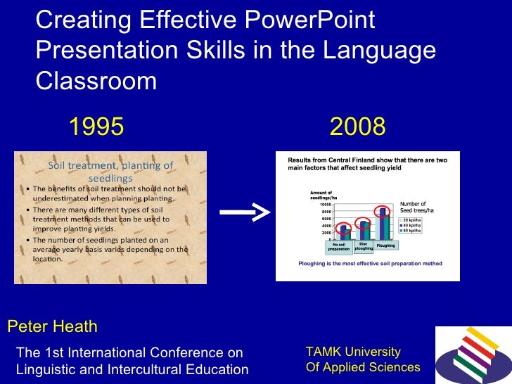 Creating Effective PowerPoint  Presentation Skills in the Language Classroom  Peter Heath 1995 2008 The 1st International ...
