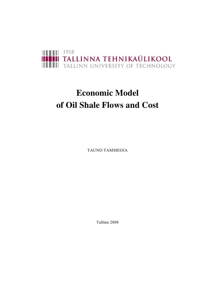 Tammeoja economic model_of_oil_shale_flows_and_cost