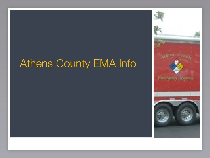 Athens County Emergency Management Agency Preparedness