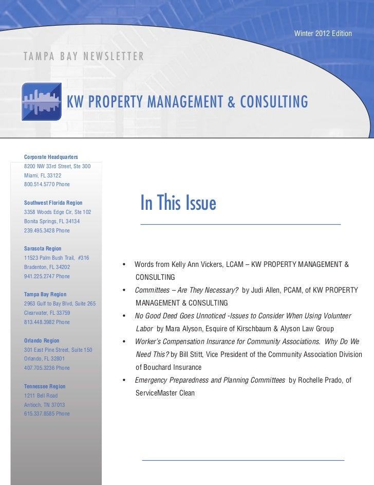 Winter 2012 EditionTA M PA B AY N E W S L E T T E RCorporate Headquarters8200 NW 33rd Street, Ste 300Miami, FL 33122800.51...