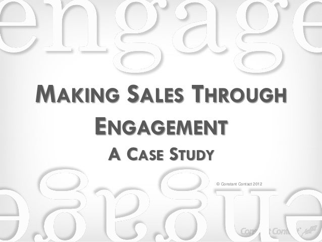 SME Growth Hack - Constant Contact 'Getting sales through engagement marketing'