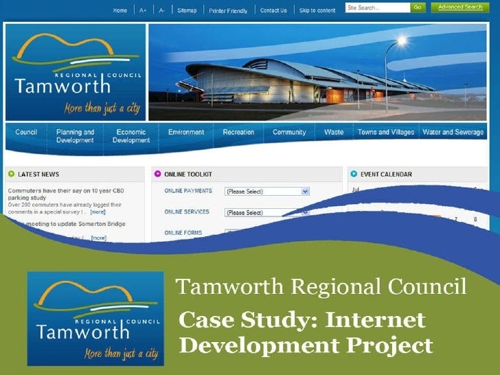 Tamworth website redevelopment project