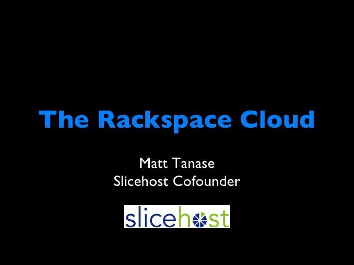 Tanase Cloudcamp Boston