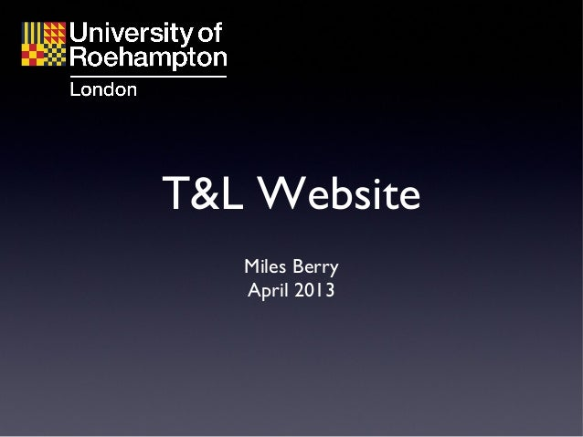 T and L websites (lecture 1)