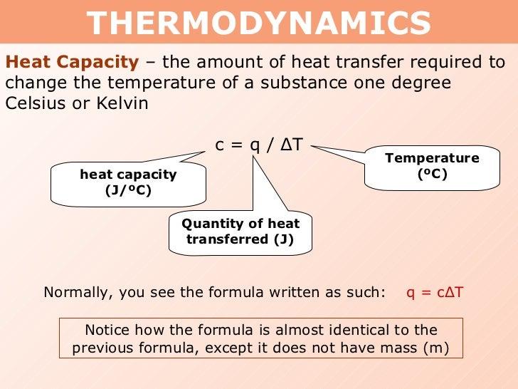 specific heat capacity formula pdf