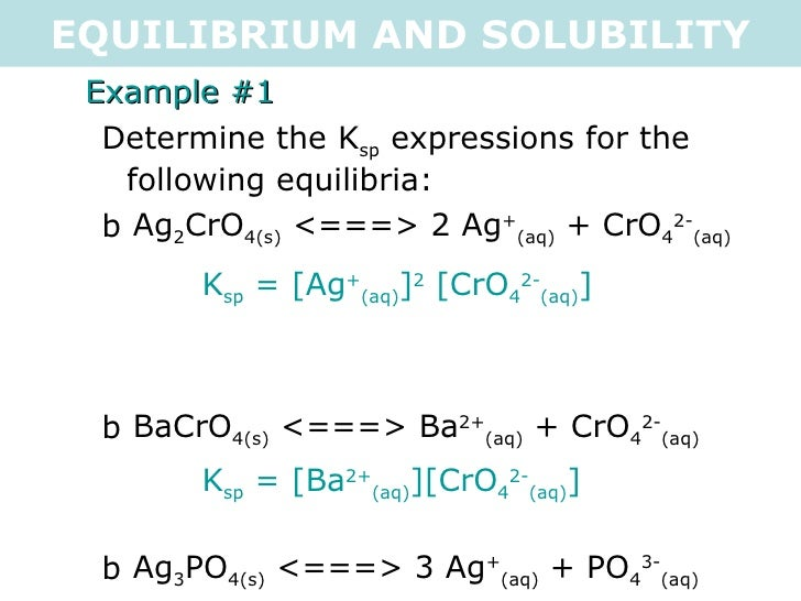determination of the solubility product constant of a salt The extent to which a sparingly soluble salt dissolves in water is often given in terms of the salt's equilibrium solubility product constant, k sp  the aim.