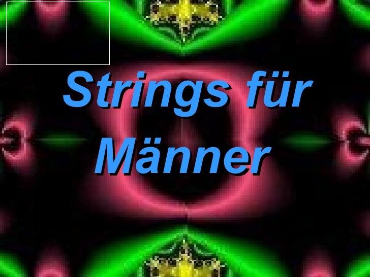 Männer Strings für