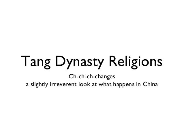 Tang dynasty religions