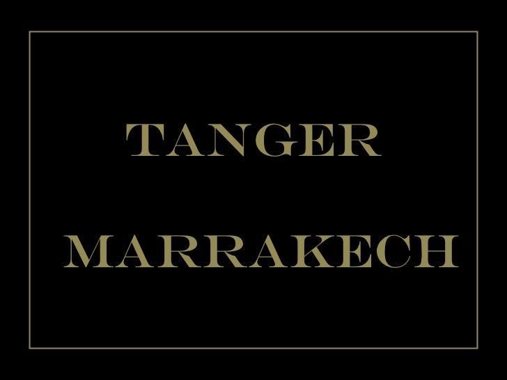 Tanger marrakech