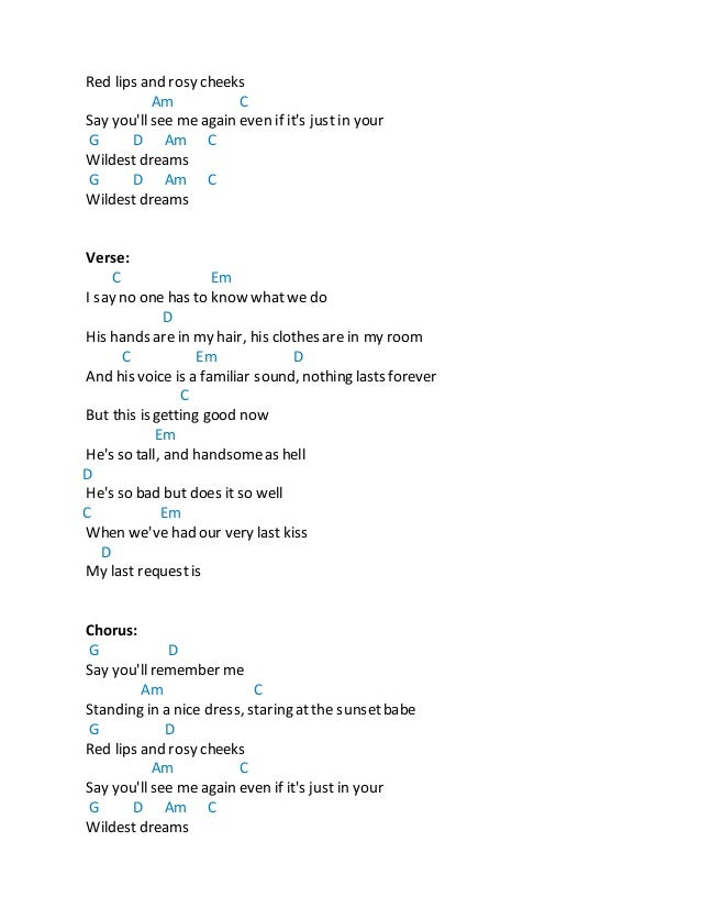 Red by taylor swift chords
