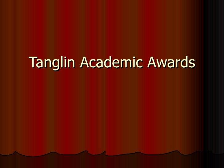 1e3 tss Tanglin Academic Awards