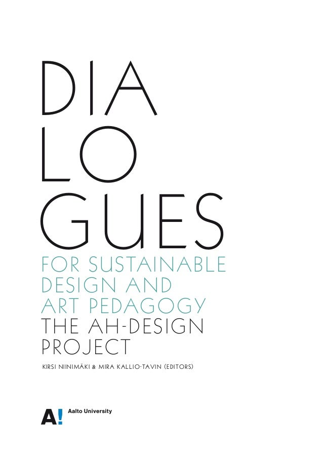 DIALOGUES for Sustainable Design and Art Pedagogy - The AH Design project