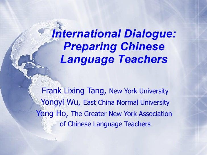 Tang Wu Ho Preparing Chinese Language Teachers