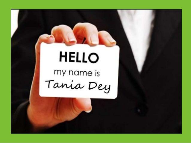 Tania visual resume