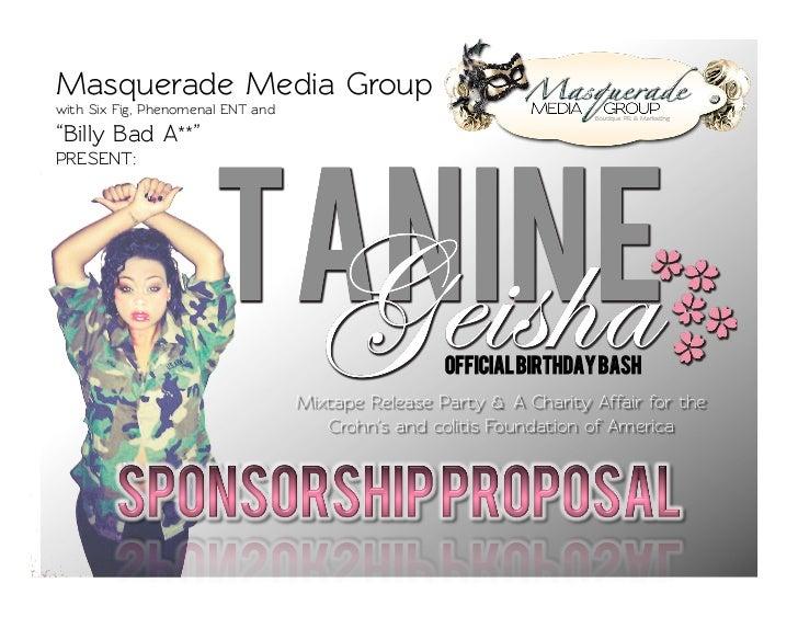 Tanine Geisha Celebrity Birthday Bash Sponsorship - A Charity Event