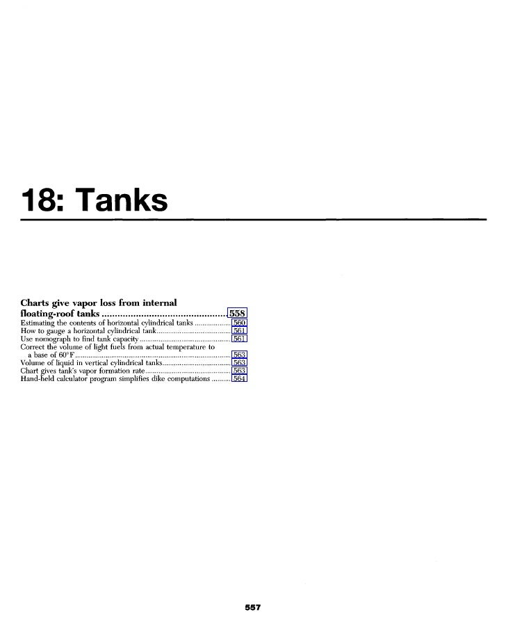 18: Tanks  Charts give vapor loss from internal floating-roof tanks                                            558 Estimat...