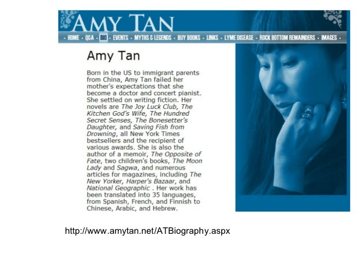 amy tan lyme disease essay Amy tan is a very vocal concerning lyme disease the essay, mother tongue amy tan: daisy and amy went on a trip to shanghai and beijing together in 1987.