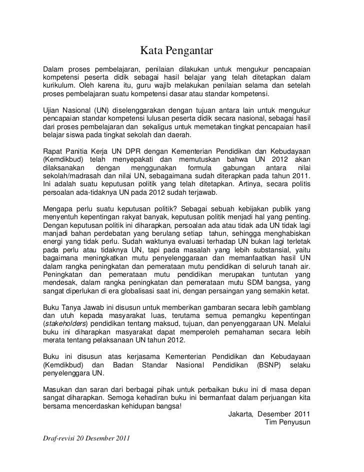 Tanya jawab UN 2012