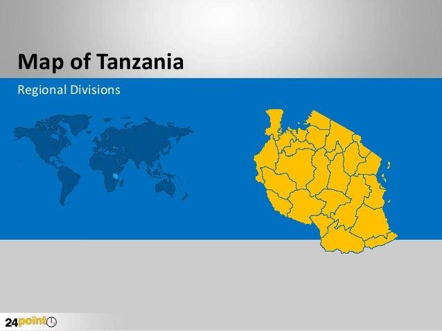 Tanzania Map - Editable PowerPoint Slides
