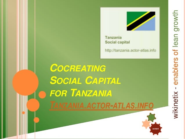 content . . wikinetix-enablersofleangrowth COCREATING SOCIAL CAPITAL FOR TANZANIA TANZANIA.ACTOR-ATLAS.INFO