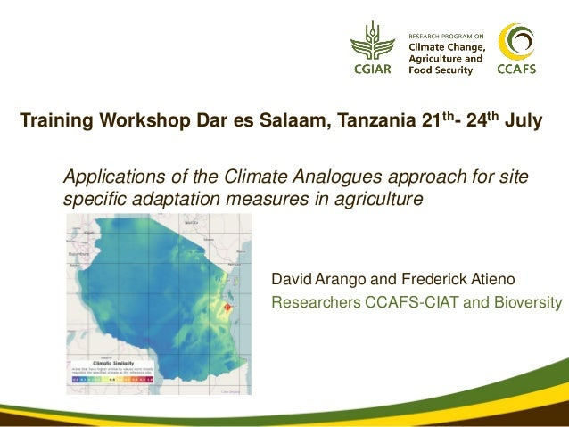 Applications of the Climate Analogues approach for site specific adaptation measures in agriculture