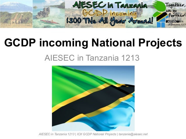 Tanzania iGCDP national projects ppt