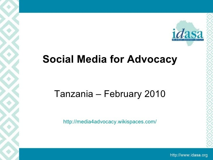 Tanzania –  Social  Media For  Advocacy