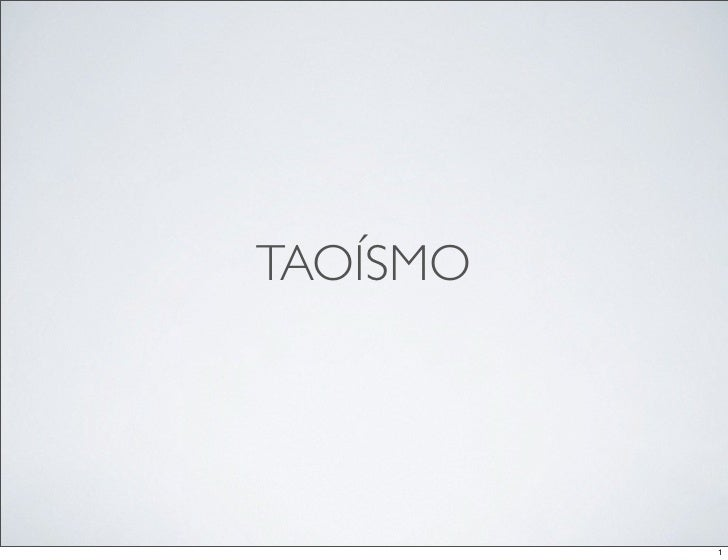TAOÍSMO               1