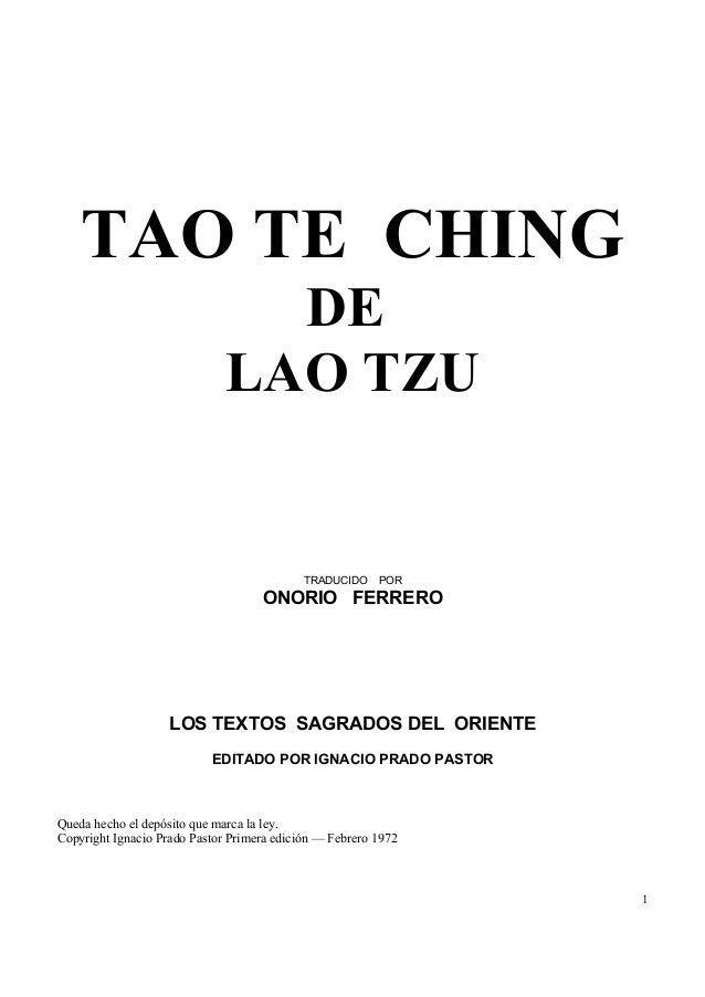 tao te ching review essay 1 compare yi ching with tao te ching use the result of consulting to compare and contrast between yi ching and tao te ching find the interpretation of your result.