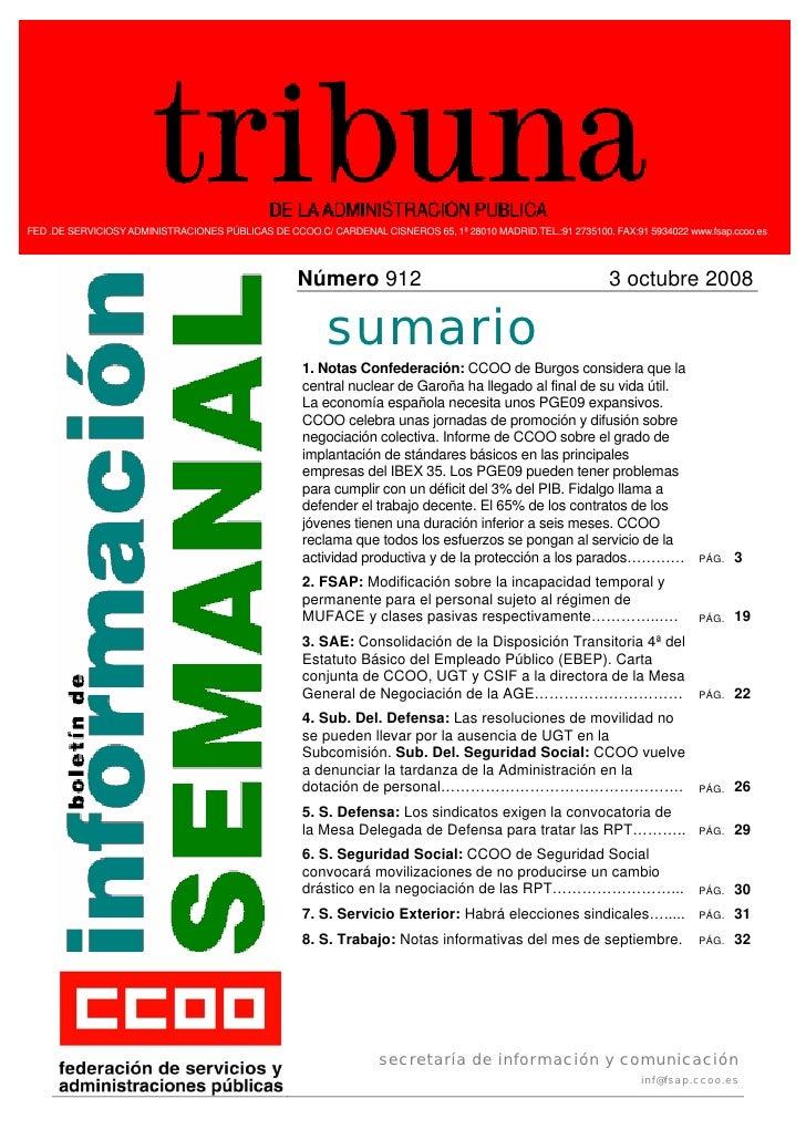 Tribuna Admón. Pública nº 912