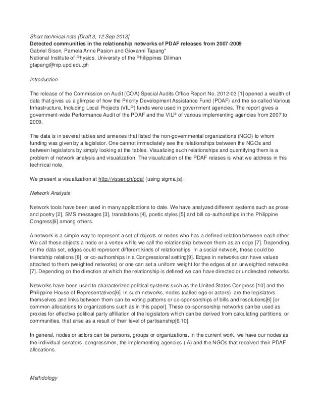 Short technical note [Draft 3, 12 Sep 2013] Detected communities in the relationship networks of PDAF releases from 2007-2...