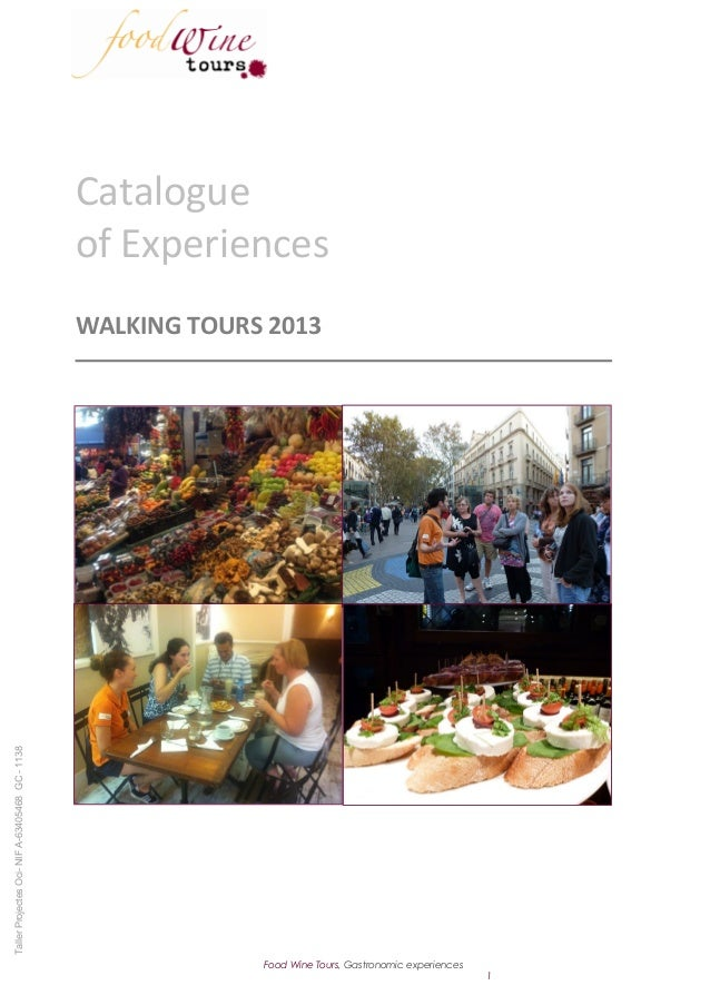 Catalogue                                                 of Experiences                                                 W...