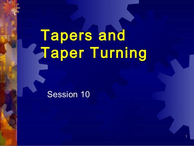 taper turning operation on lathe machine pdf
