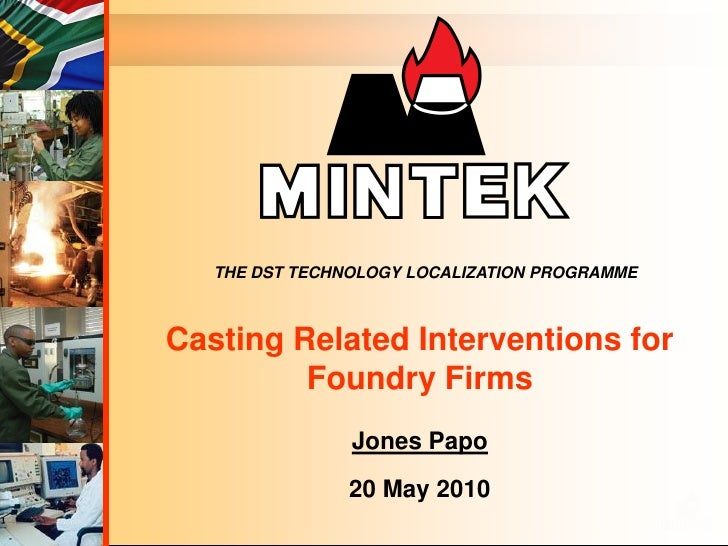Tap Foundries Intervention - Mintek
