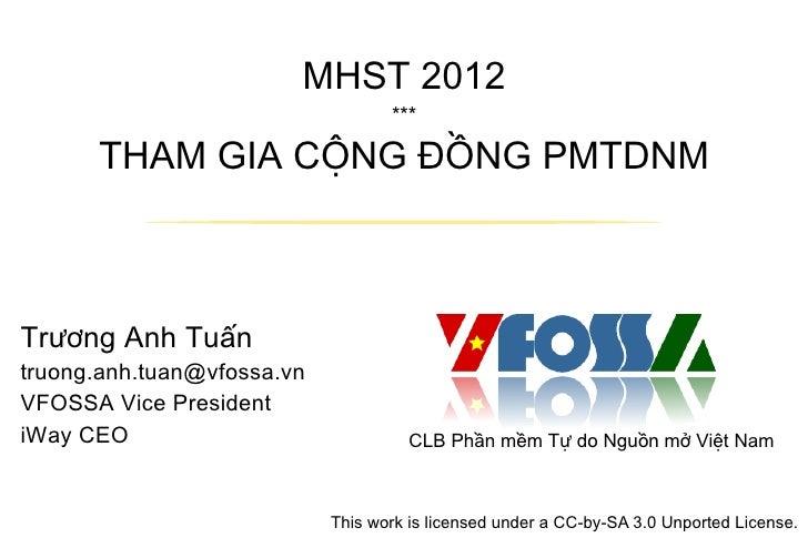 Tham gia cộng đồng PMTDNM