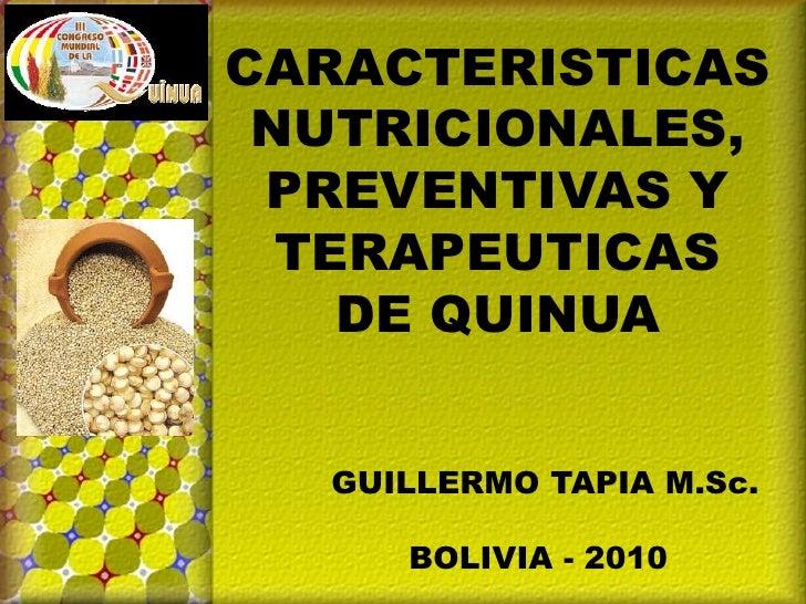Tapia Guillermo-Características nutricionales, preventivas y terapéuticas de quinua_ R.Miranda