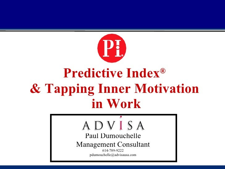 Predictive                                              Index®         Predictive Index                   ®  & Tapping Inn...