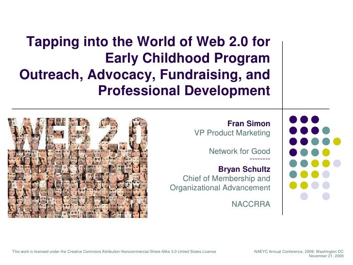 Tapping into the World of Web 2.0 for Early Childhood Program Outreach, Advocacy, Fundraising, and Professional Developmen...
