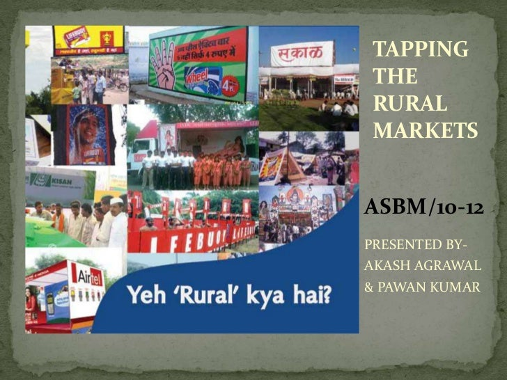 Tapping the rural markets