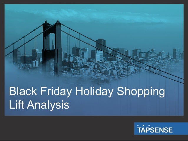 Black Friday Holiday Shopping Lift Analysis