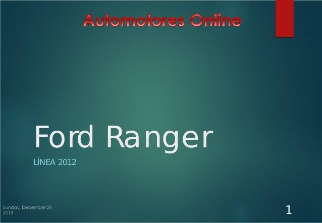 Ford Ranger LÍNEA 2012  1