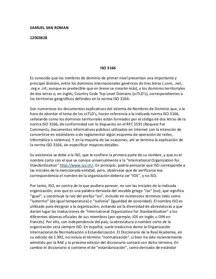 SAMUEL SAN ROMAN12003828                                         ISO 3166Es conocido que los nombres de dominio de primer ...