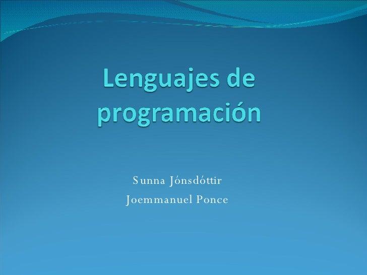 Sunna Jónsdóttir Joemmanuel Ponce