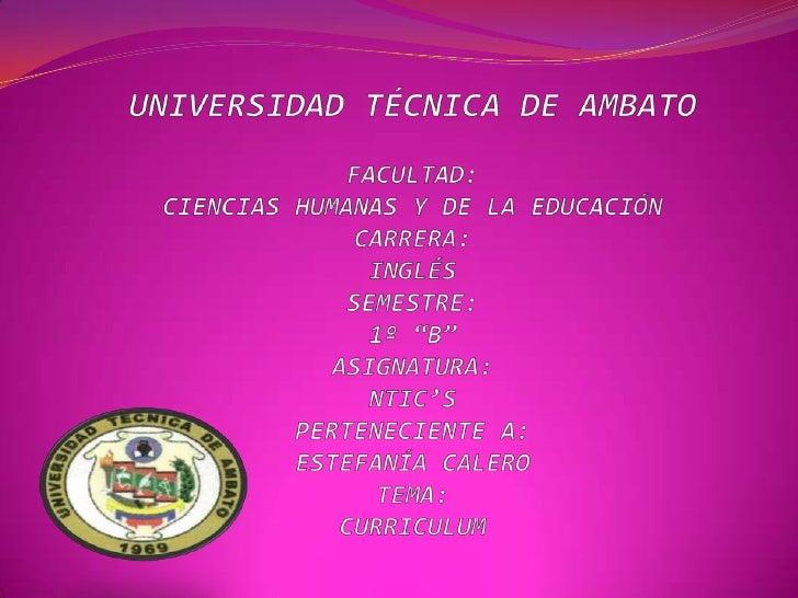 """UNIVERSIDAD TÉCNICA DE AMBATOFACULTAD:CIENCIAS HUMANAS Y DE LA EDUCACIÓNCARRERA:INGLÉSSEMESTRE:1º """"B""""ASIGNATURA:NTIC'SPERT..."""
