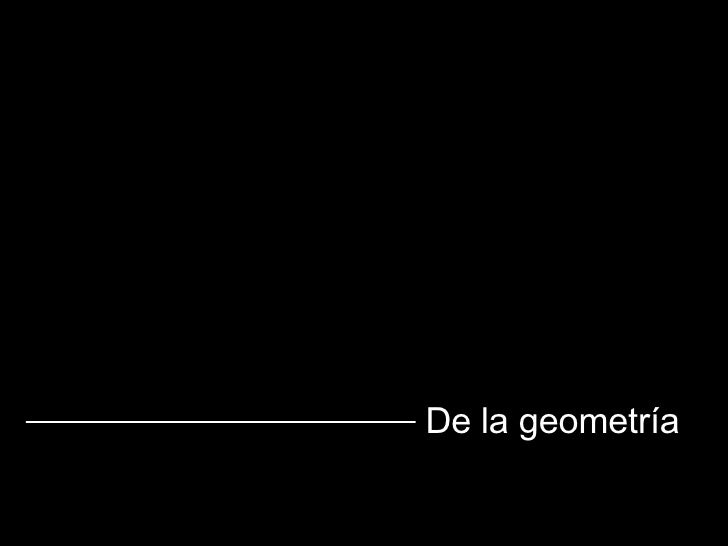 De la geometría