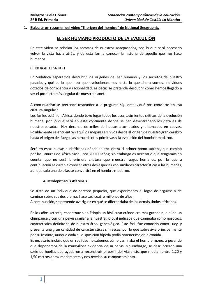 Milagros Suela Gómez                            Tendencias contemporáneas de la educación   2º B Ed. Primaria             ...