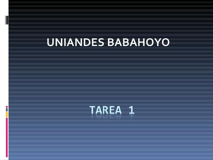 UNIANDES BABAHOYO