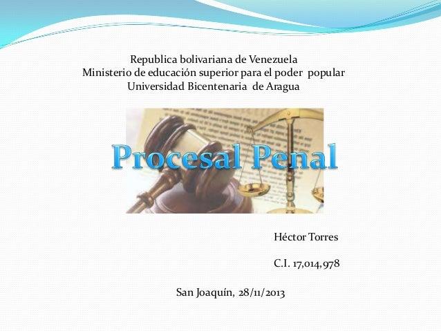 Republica bolivariana de Venezuela Ministerio de educación superior para el poder popular Universidad Bicentenaria de Arag...