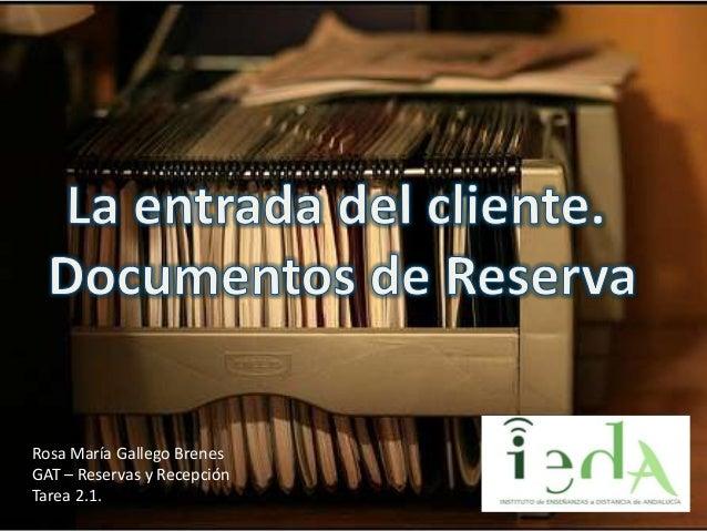 Tarea 2.1. Documentación de Reservas